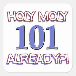 1Holy Moly 10 already? Square Sticker