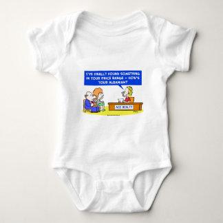 1howsyouralbanianCOLgreetcopyright Baby Bodysuit