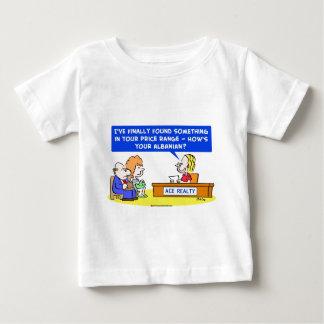1howsyouralbanianCOLgreetcopyright Baby T-Shirt