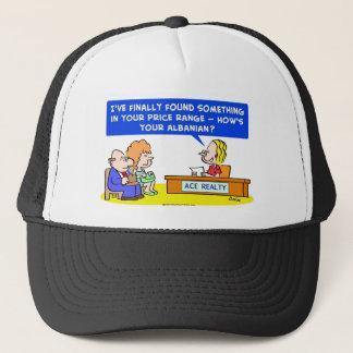 1howsyouralbanianCOLgreetcopyright Trucker Hat