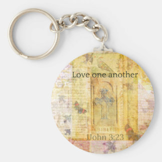 1John 3:23   Love one another SCRPTURE Key Chains