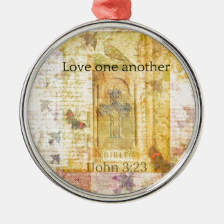 1John 3 23 Love one another SCRPTURE Christmas Tree Ornaments