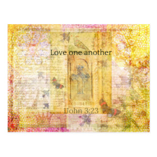 1John 3:23   Love one another SCRPTURE Postcard