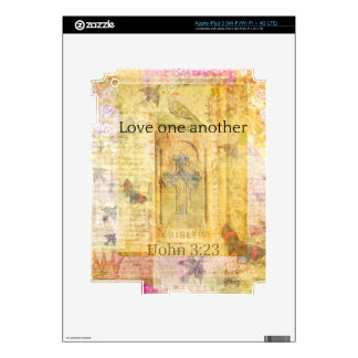 1John 3:23   Love one another SCRPTURE Decal For iPad 3