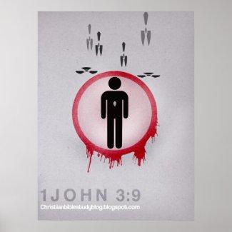 1John 3:9 Minimalist Posters