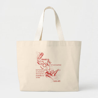 1John 4:10 Herein is Love Large Tote Bag