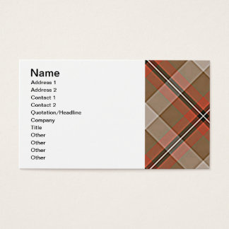 1JPEG BROWN RED WHITE BLACK PLAID PATTERN TEXTURES BUSINESS CARD