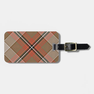 1JPEG BROWN RED WHITE BLACK PLAID PATTERN TEXTURES LUGGAGE TAG