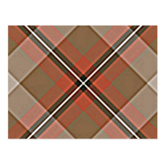 1JPEG BROWN RED WHITE BLACK PLAID PATTERN TEXTURES POSTCARD