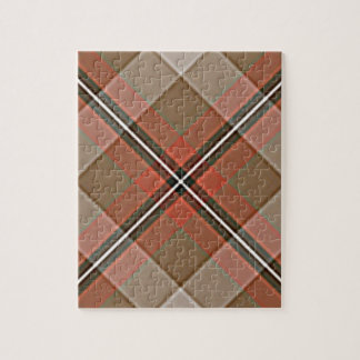 1JPEG BROWN RED WHITE BLACK PLAID PATTERN TEXTURES JIGSAW PUZZLES