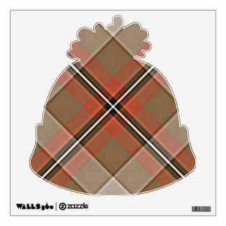 1JPEG BROWN RED WHITE BLACK PLAID PATTERN TEXTURES WALL STICKER