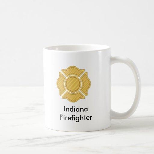 1LOGO11,       bombero     de Indiana Taza