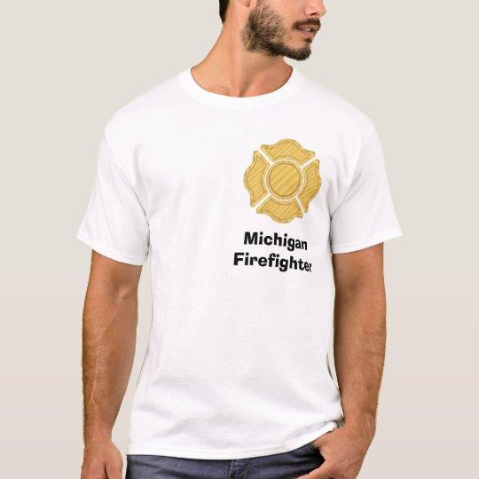1LOGO11, MichiganFirefighter T-Shirt