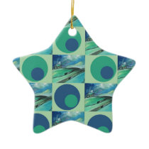 1One Imagination place pattern Ceramic Ornament