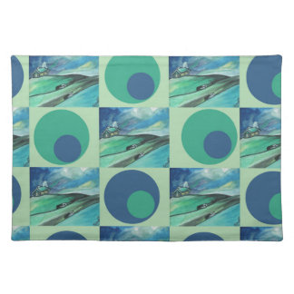 1One Imagination place pattern Cloth Placemat