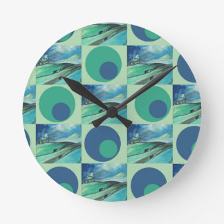 1One Imagination place pattern Round Clock