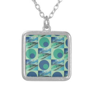 1One Imagination place pattern Silver Plated Necklace