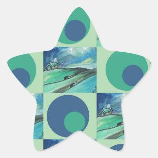 1One Imagination place pattern Star Sticker