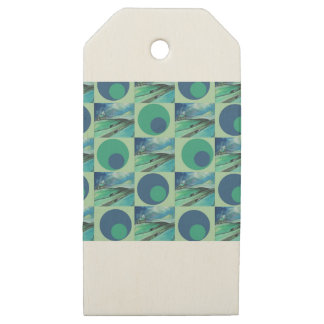 1One Imagination place pattern Wooden Gift Tags