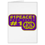 #1peace1 twitter peace maker T-shirts Greeting Card