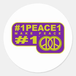 #1peace1 twitter peace maker T-shirts Classic Round Sticker