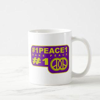 #1peace1 twitter peace maker T-shirts Coffee Mug