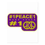 #1peace1 twitter peace maker T-shirts Postcards