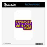 #1peace1 twitter peace maker T-shirts iPod Touch 4G Decal