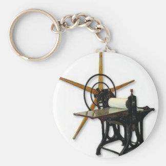1press basic round button keychain