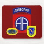1r 504a infantería Mousepad del batallón (Abn) Tapetes De Raton