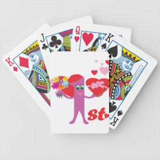 1r Aniversario de boda Baraja Cartas De Poker