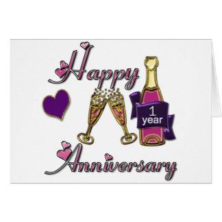 1r. Aniversario Tarjeta De Felicitación