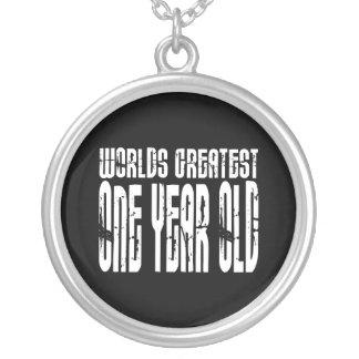 1r Año más grande de los mundos de la fiesta de cu Collar Personalizado