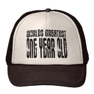 1r Año más grande de los mundos de la fiesta de cu Gorras De Camionero