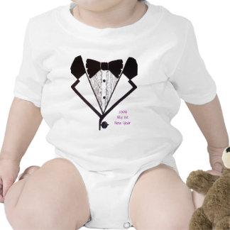 1r Años Nuevos de Tux de niño de la camiseta