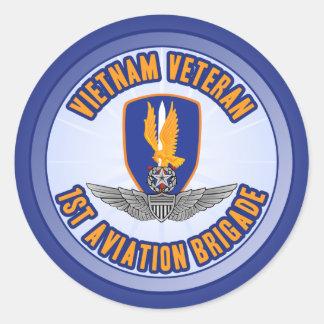 1r Aviador del amo de los Bde de los Avn Etiquetas Redondas