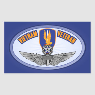 1r Aviador del amo de los Bde de los Avn Rectangular Pegatina