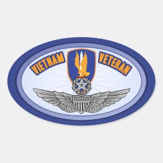 1r Aviador del amo de los Bde de los Avn Pegatina Ovalada
