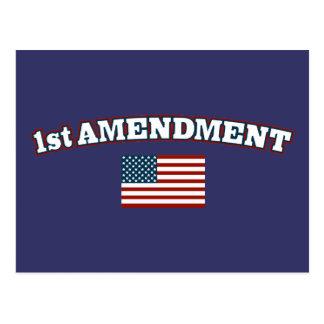 1r Bandera americana de la enmienda Tarjeta Postal