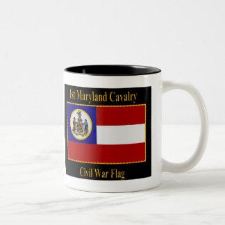1r Bandera de la guerra civil de la caballería de  Taza De Café