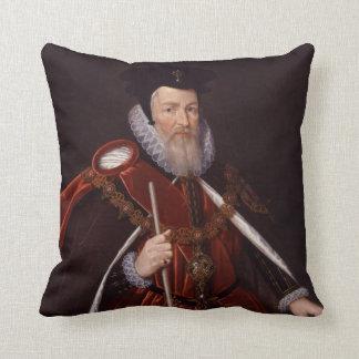 1r barón Burghley de Guillermo Cecil Cojines