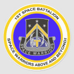 1r Batallón del espacio Etiquetas Redondas