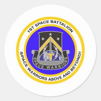 1r Batallón del espacio Pegatinas Redondas