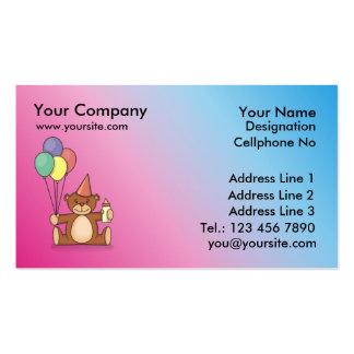 1r bearthday plantilla de tarjeta de visita