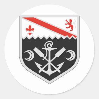 1r Bn del combate del ingeniero Pegatina Redonda