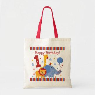 1r bolso del personalizado del cumpleaños del safa bolsa tela barata