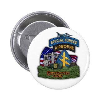 1r botón de los veteranos de las boinas verdes de