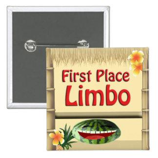 1r botón del limbo del lugar del fiesta de la pin cuadrado