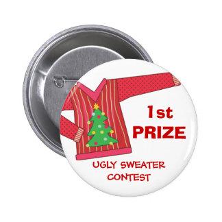 1r Botón feo premiado de la competencia del día de Pin Redondo De 2 Pulgadas