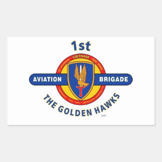 """1r BRIGADA de AVIACIÓN VIETNAM """"HALCONES DE ORO """" Rectangular Altavoces"""